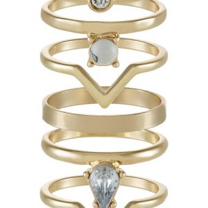 Anillo Miss Selfridge 6 PACK Anillo crystal