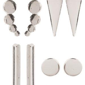 Pendientes ONLY ONLJAWA 4PACK silvercoloured