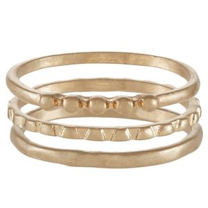 Anillo Selected Femme 3 PACK SFMOBY Anillo goldcoloured