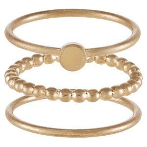 Anillo Selected Femme 3PACK SFWANDA Anillo goldcoloured