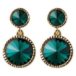 Pendientes Ted Baker RONDA goldcoloured/emerald