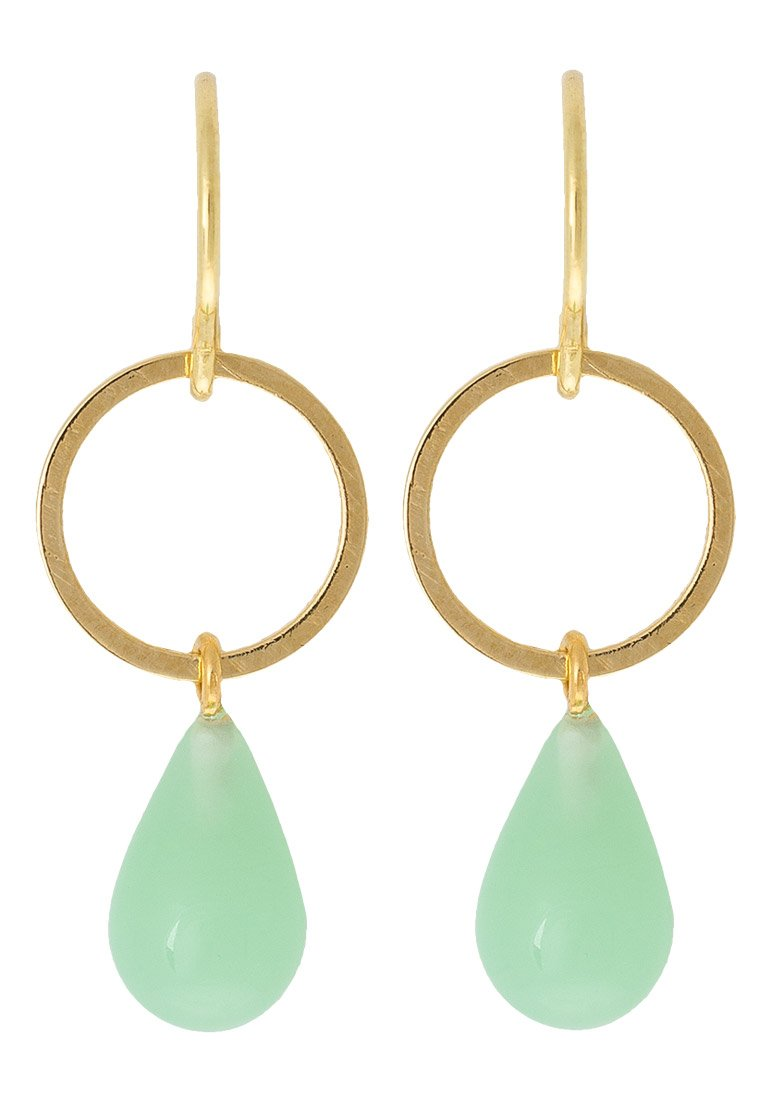 Pendientes TomShot goldcoloured/jade