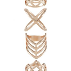 Anillo Topshop 4 PACK Anillo rose goldcoloured