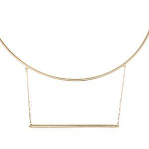 Collares Topshop Collar goldcoloured