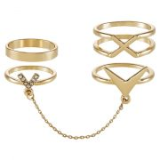 Anillo Topshop 3 PACK Anillo goldcoloured