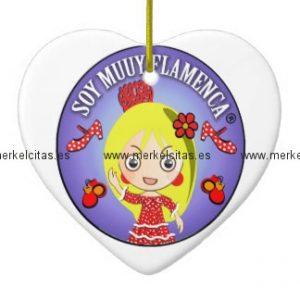 adorno soy muy flamenca munequita rubia retrocharms