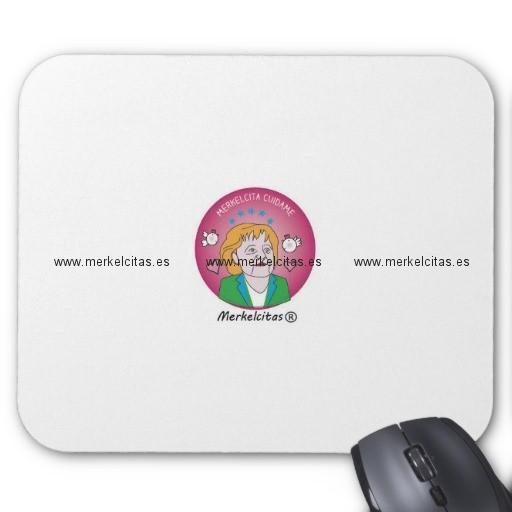 alfombrilla de raton merkelcita plis en rosa retrocharms