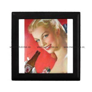 anuncio vintage de cerveza espanola joyero cuadrado pequeño retrocharms