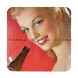 anuncio vintage de cerveza española posavasos de bebidas retrocharms