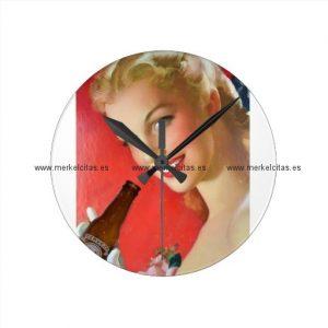 anuncio vintage de cerveza espanola reloj redondo mediano retrocharms