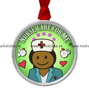 awesome gift ideas nursing nurse care for me adorno navideño redondo de metal retrocharms