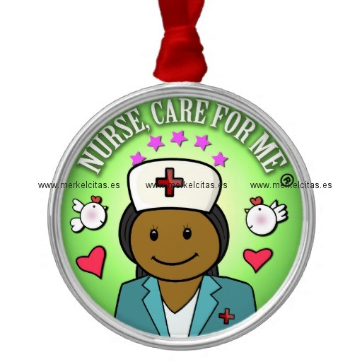 awesome gift ideas nursing nurse care for me adorno navideño redondo de metal retrocharms