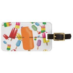 big popsicle chaos by ana lopez etiquetas maletas retrocharms