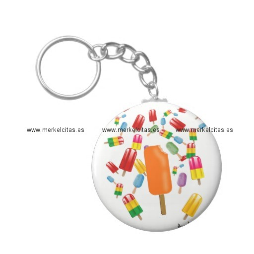 big popsicle chaos by ana lopez llavero redondo tipo chapa retrocharms