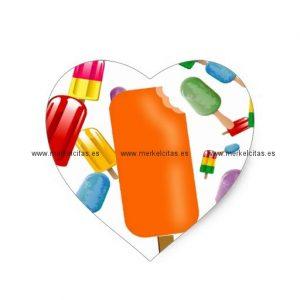 big popsicle chaos by ana lopez pegatina en forma de corazon retrocharms