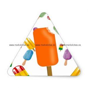 big popsicle chaos by ana lopez pegatina triangular retrocharms
