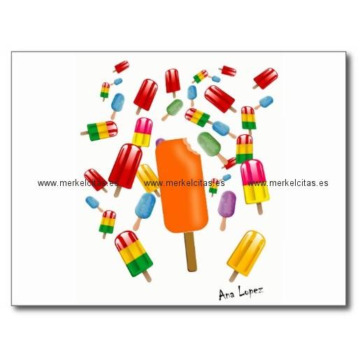 big popsicle chaos by ana lopez postal retrocharms