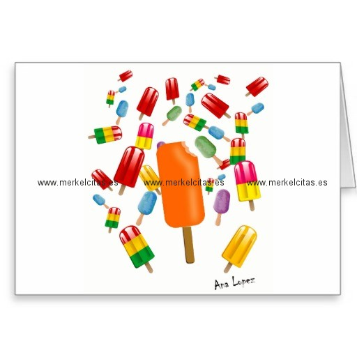 big popsicle chaos by ana lopez tarjeta de felicitacion retrocharms