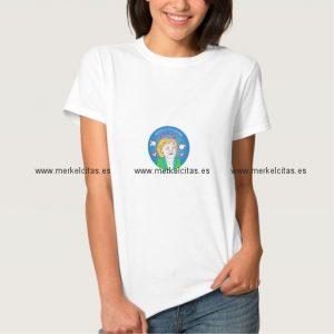 camiseta merkelcita cuidame plis azul retrocharms