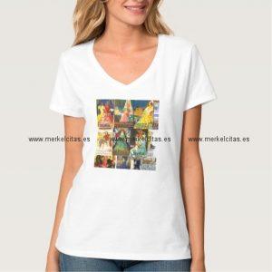camiseta mujer carteles antiguos vintage andalucia retrocharms