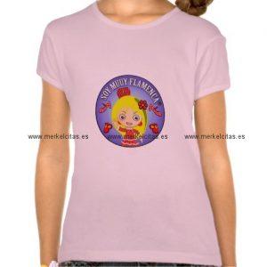 camiseta rosaniña soy muy flamenca muñeca rubia retrocharms