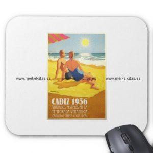 cartel vintage antiguo turismo cadiz 1956 alfombrilla de raton retrocharms