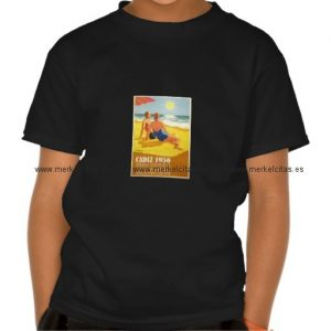 cartel vintage antiguo turismo cadiz 1956 camisetas retrocharms