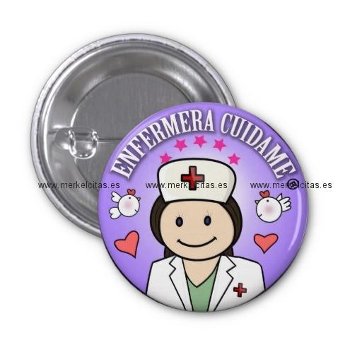 chapa enfermera cuidame morena lila chapa redonda 2 5 cm retrocharms