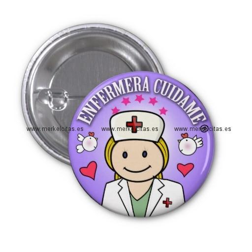 chapa enfermera cuidame plis rubia anil chapa redonda 2 5 cm retrocharms