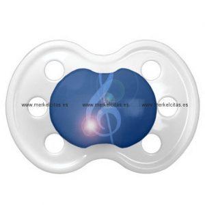 clave de sol treble clef con efectos chupetes de bebe retrocharms