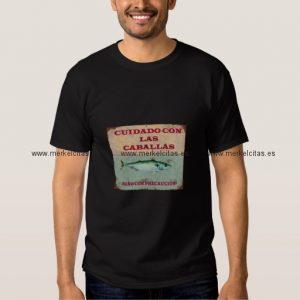cuidado con las caballas camiseta vintage retrocharms