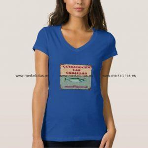 cuidado con las caballas camiseta vintage mujer retrocharms
