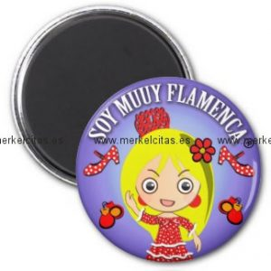flamenca iman de nevera regalo soy muuy flamenca retrocharms