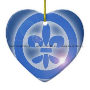 flor de lis lis flower shine healing effects adorno navideño de ceramica en forma de corazon retrocharms