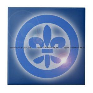 flor de lis lis flower shine healing effects azulejo cuadrado pequeño retrocharms
