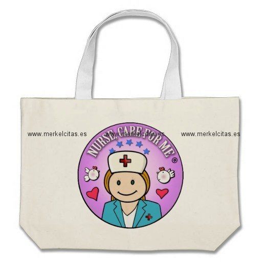 gift for nurses nurse care bolsa tela grande retrocharms