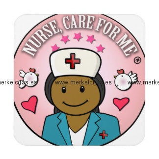 gifts nurse care for me dark hair posavasos retrocharms