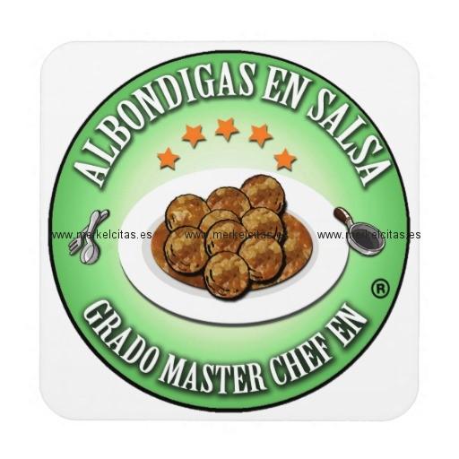 grado master chef en albondigas en salsa posavasos retrocharms