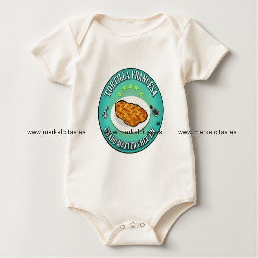 grado master chef en tortilla a la francesa body de bebe retrocharms