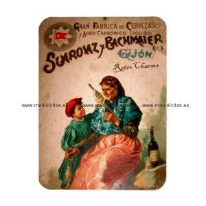 iman de nevera anuncio vintage cervezas gijon iman retrocharms