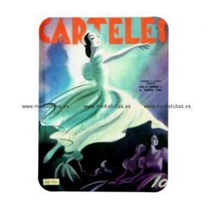 iman de nevera cubano vintage ballet de cuba imanes retrocharms