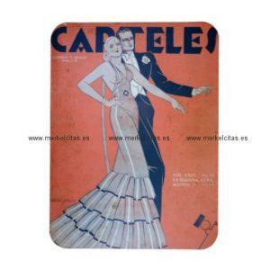 iman de nevera cubano vintage pareja baile habana iman rectangular retrocharms
