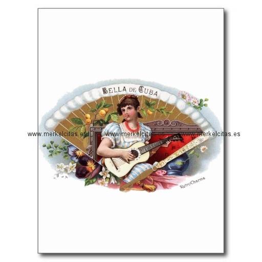 la bella de cuba vintage cubano postal retrocharms