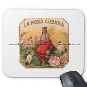la rosa cubana diseno vintage cuba alfombrilla de raton retrocharms