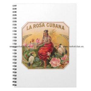 la rosa cubana diseno vintage cuba cuaderno retrocharms