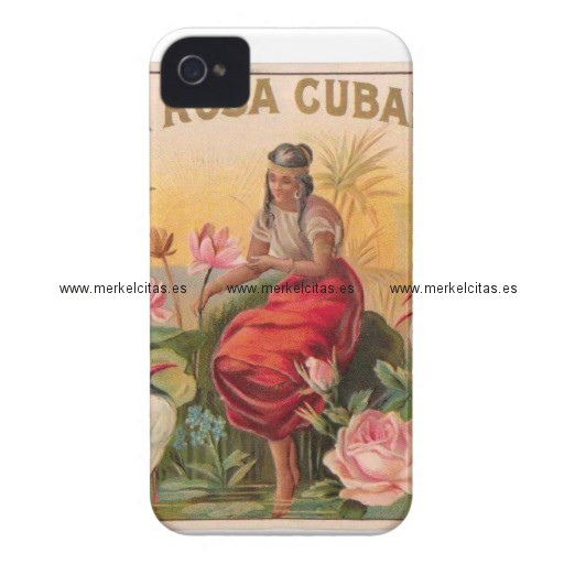 la rosa cubana diseno vintage cuba iphone 4 carcasa retrocharms