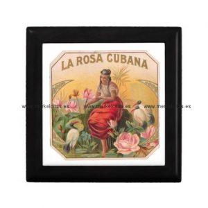 la rosa cubana diseno vintage cuba joyero cuadrado pequeño retrocharms