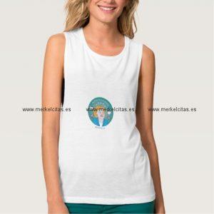medallita merkelcita cuidame plis azul camiseta de tirantes anchos retrocharms