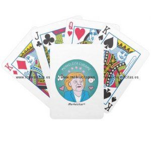 medallita merkelcita cuidame plis azul cartas de juego retrocharms