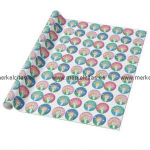 merkelcita plis cuidame papel de regalo retrocharms